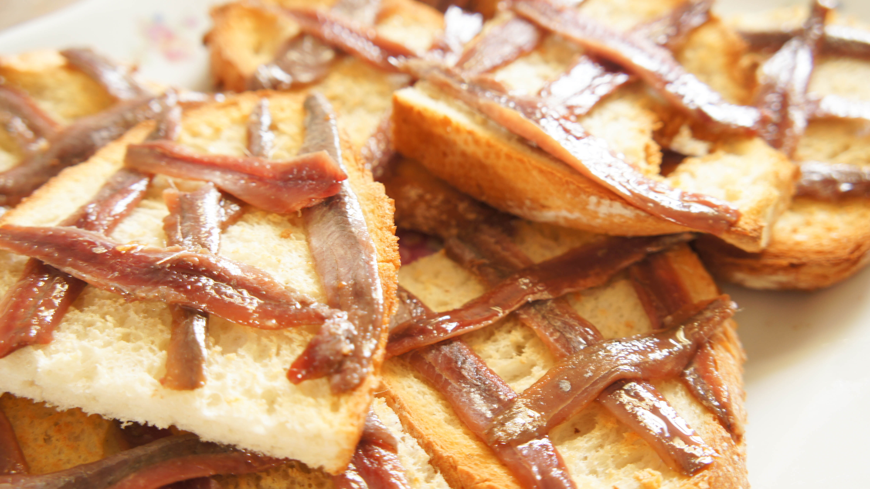 Toast met ansjovis