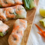 Vietnamese springrolls + 'how to roll'
