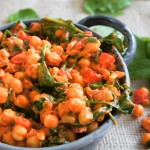 Kikkererwtenstoofpotje met spinazie en komijn