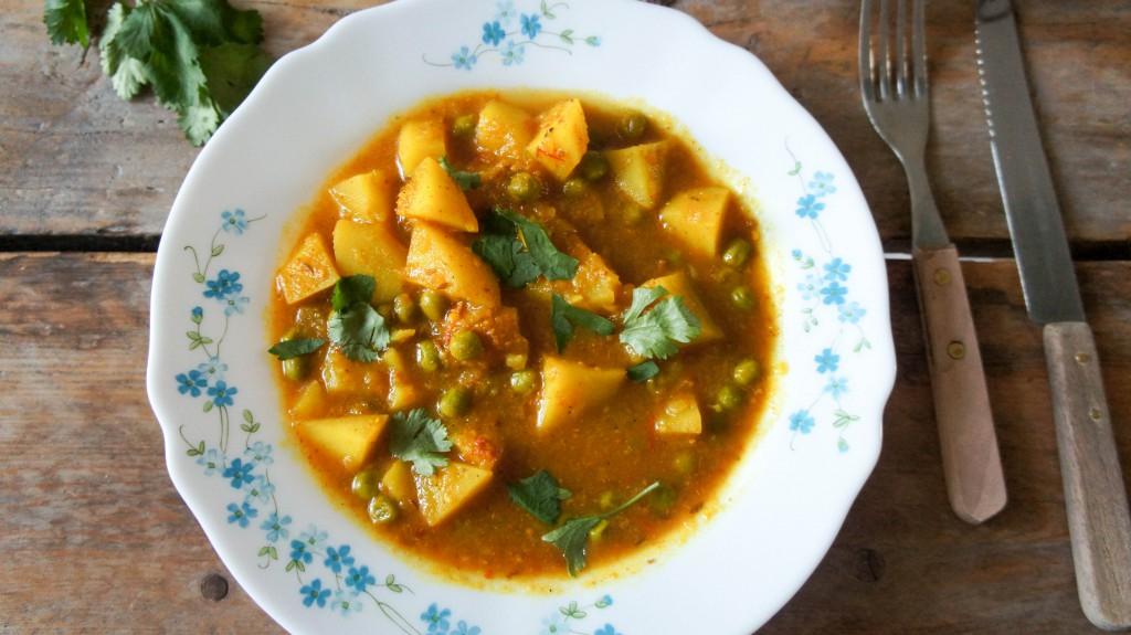 Aloo Matar, Indiase aardappelcurry