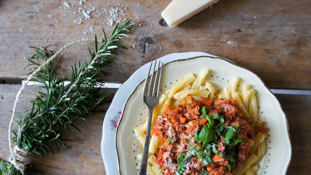 Tonijnragu met pasta