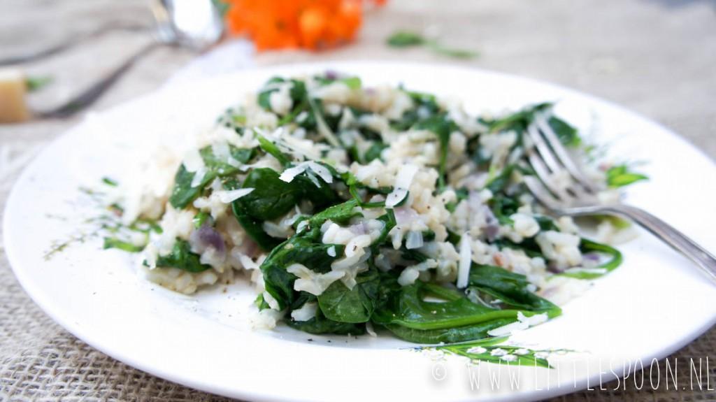(Soort van) risotto van bruine rijst