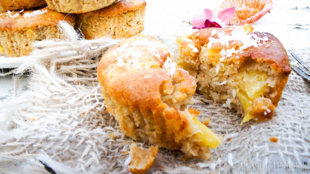 Exotische muffins met ananas en kokos