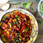 Vegetarische Mexicaanse chili