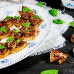 Bruschetta met ansjovis en tomaatjes in balsamico