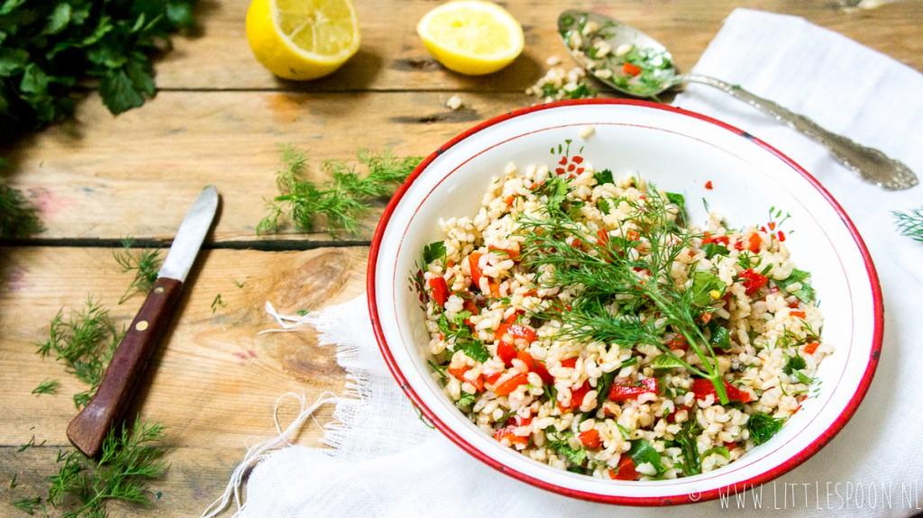 Makkelijke meeneemlunch: rijstsalade