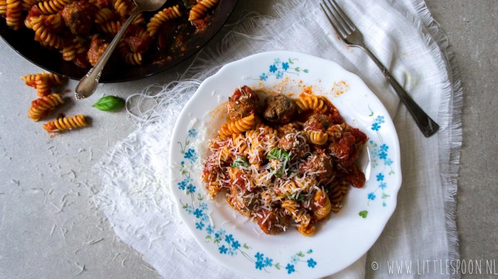Pasta met polpettes (Italiaanse gehaktballetjes)