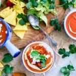 Makkelijk & snel: Mexicaanse tomatensoep met paprika