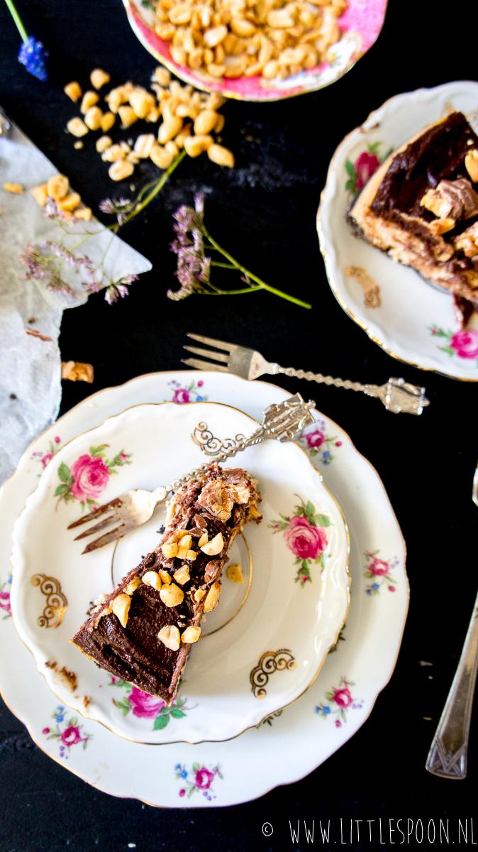 Uitbundige pindakaas cheesecake