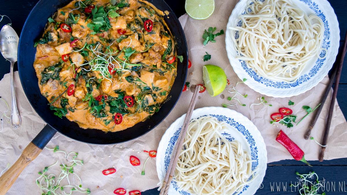 Makkelijk & snel: Rode kipcurry met udon noodles