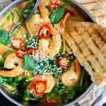 Makkelijk & snel: Romige Indiase curry met garnalen
