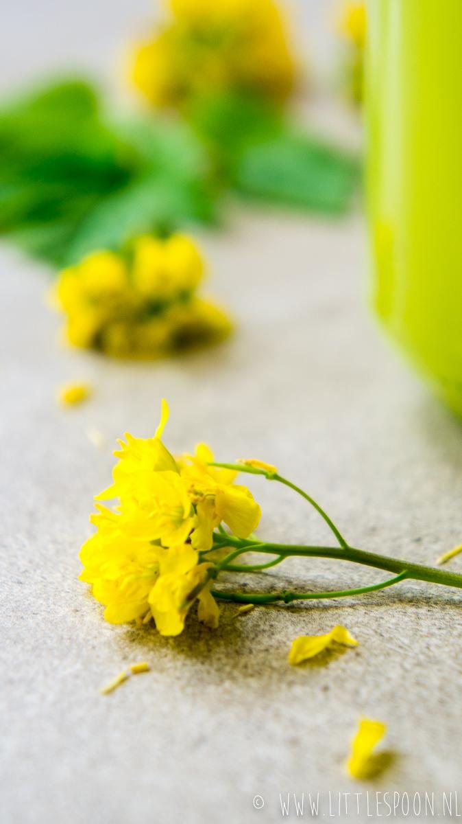 Fris sapje met groene appels, bleekselderij, gember en limoen