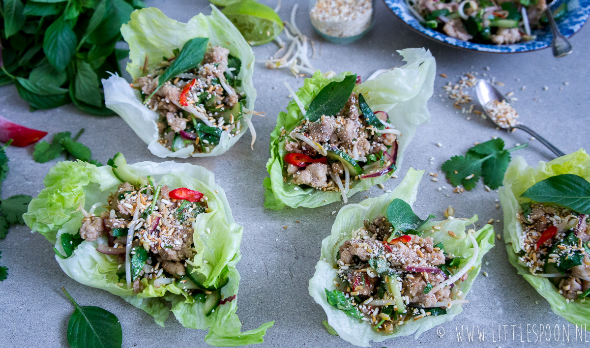 Larb gai // Thaise salade met pittige kip