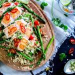 Makkelijke & snel: couscous met zalm en groene asperges