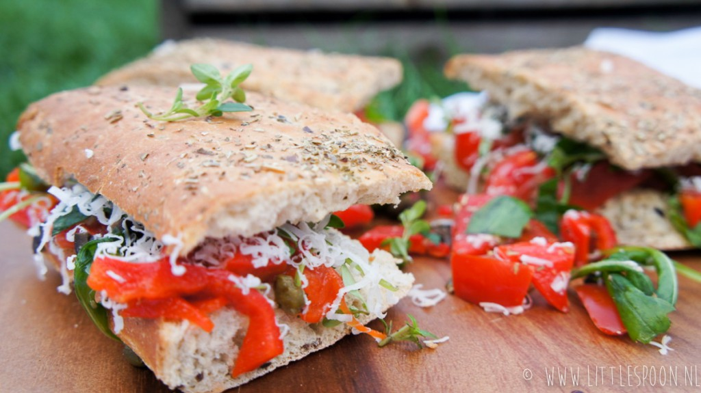 Picknickbrood // goed belegde foccacia