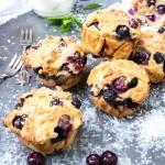 Semi gezonde muffins met blauwe bessen en kokos