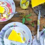 Zelfgemaakte lemon cheesecake