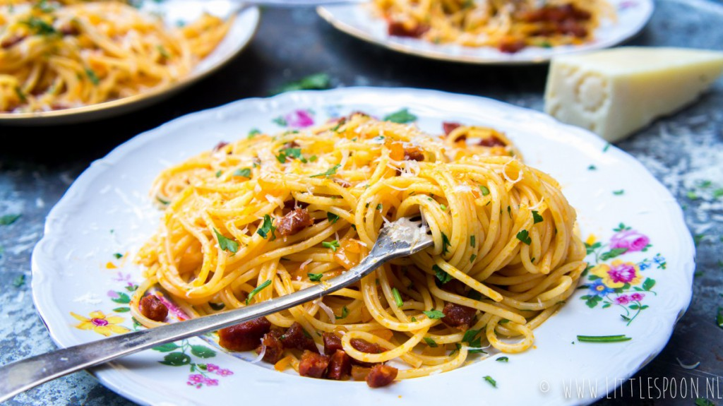 Makkelijk & snel: spaghetti met chorizo