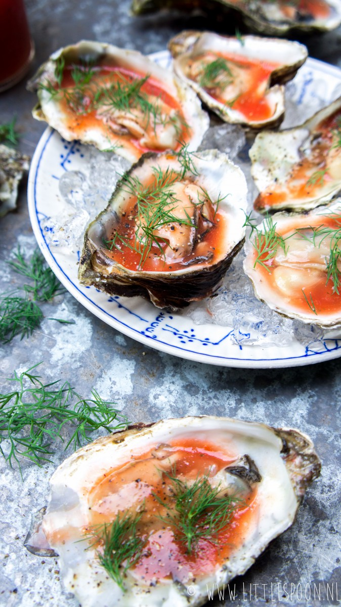 Bloody Mary oesters