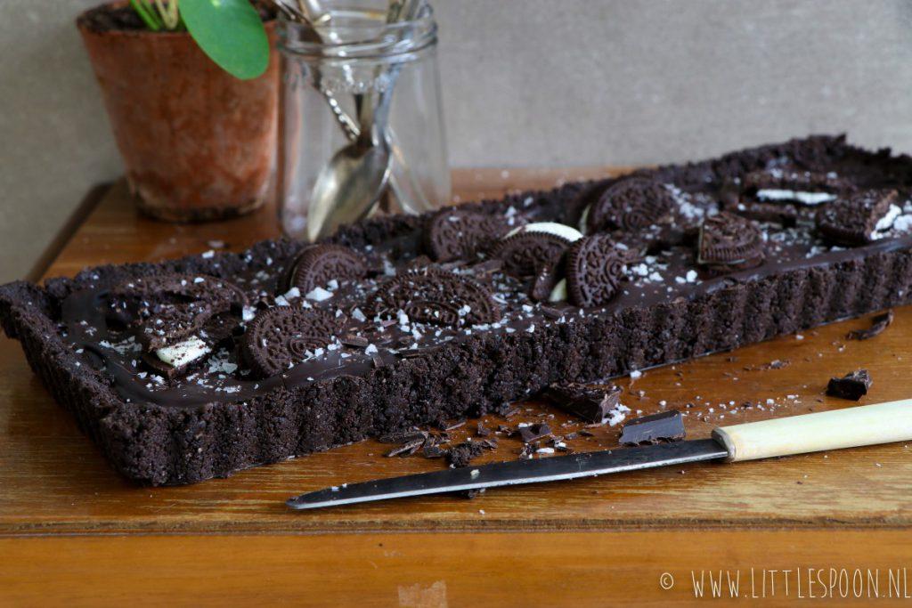 Oreo taart met pure chocolade en zeezout