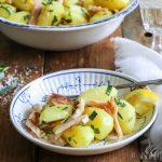 Aardappelsalade met forel en dragon