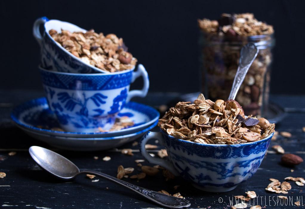 Koffie granola met vanille
