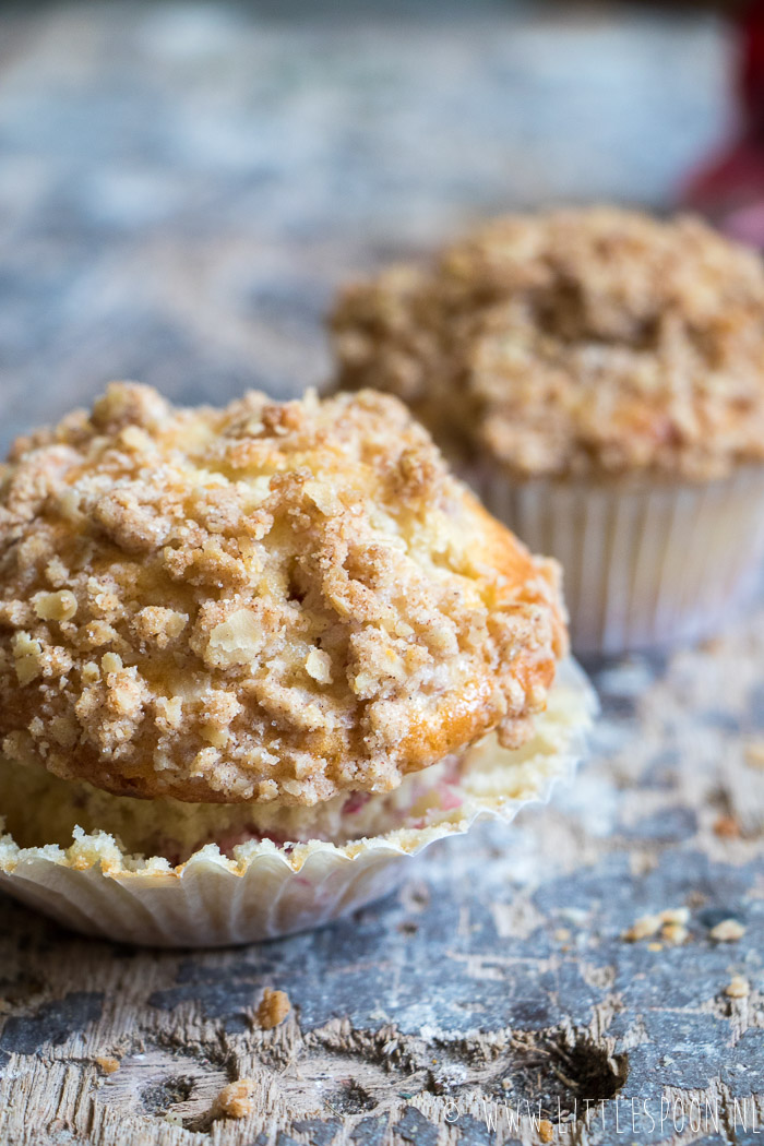 Rabarber crumble muffins