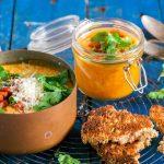 Pittige pompoensoep met crispy chorizo en chipotle + verslag kookworkshop met AEG & Desemenzo