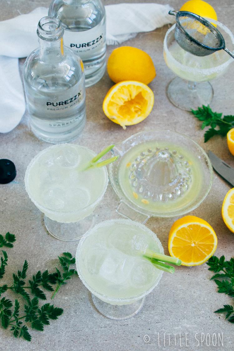 Gin fizz met citroengras