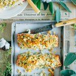 Zalm uit de oven met krokante kruidenkorst & rode bietensalade