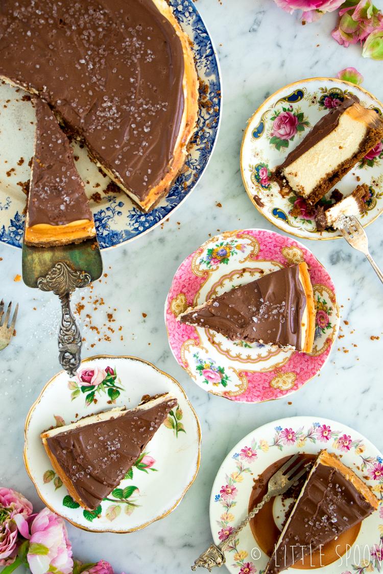 New york cheesecake met chocolade