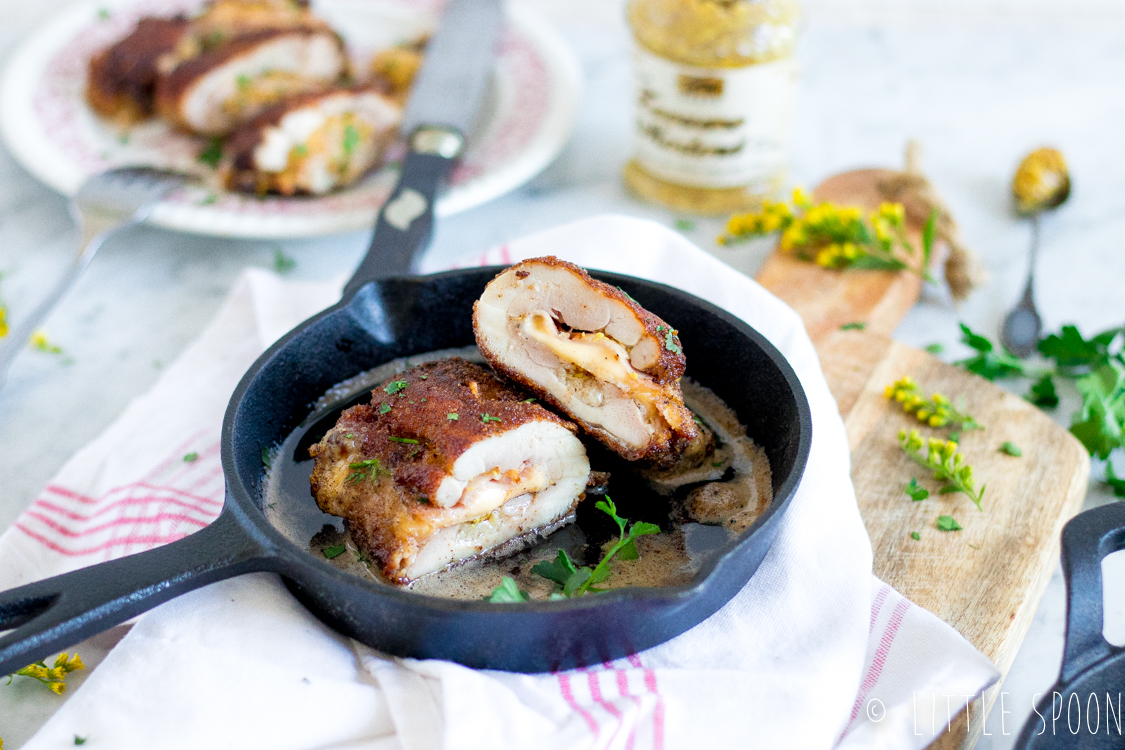 Zelfgemaakte kip cordon bleu